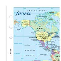 Filofax mapa světa politická časová pásma A5